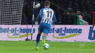 Mathew Leckie gives Berlin the early lead over Leverkusen