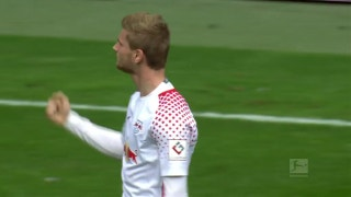 Timo Werner puts away fantastic goal for RB Leipzig | 2017-18 Bundesliga Highlights