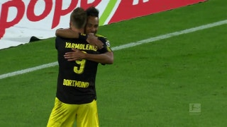 Pierre-Emerick Aubameyang taps one in for Dortmund | 2017-18 Bundesliga Highlights
