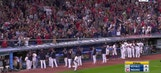 The Indians say thank you to their fans