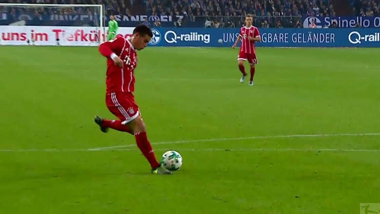 James Rodriguez scores his first Bundesliga goal in first start for Bayern