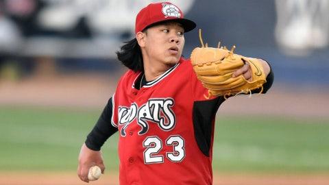 Jordan Yamamoto (12th round, 2014), RHP, Carolina
