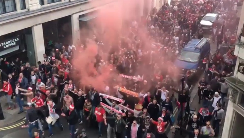 20,000 Koln fans stormed London for the match against Arsenal in the Europa League