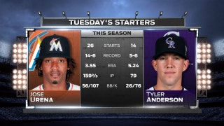 Marlins' Jose Urena seeks 15th win of season as series continues vs. Rockies
