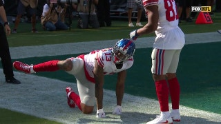 Watch Odell Beckham's graphic celebration which was (obviously) penalized