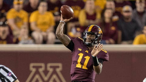 Demry Croft, Gophers quarterback (↓ DOWN)