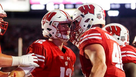 Troy Fumagalli, Badgers tight end (↑ UP)