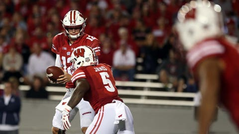 Chris James, Badgers running back (↓ DOWN)