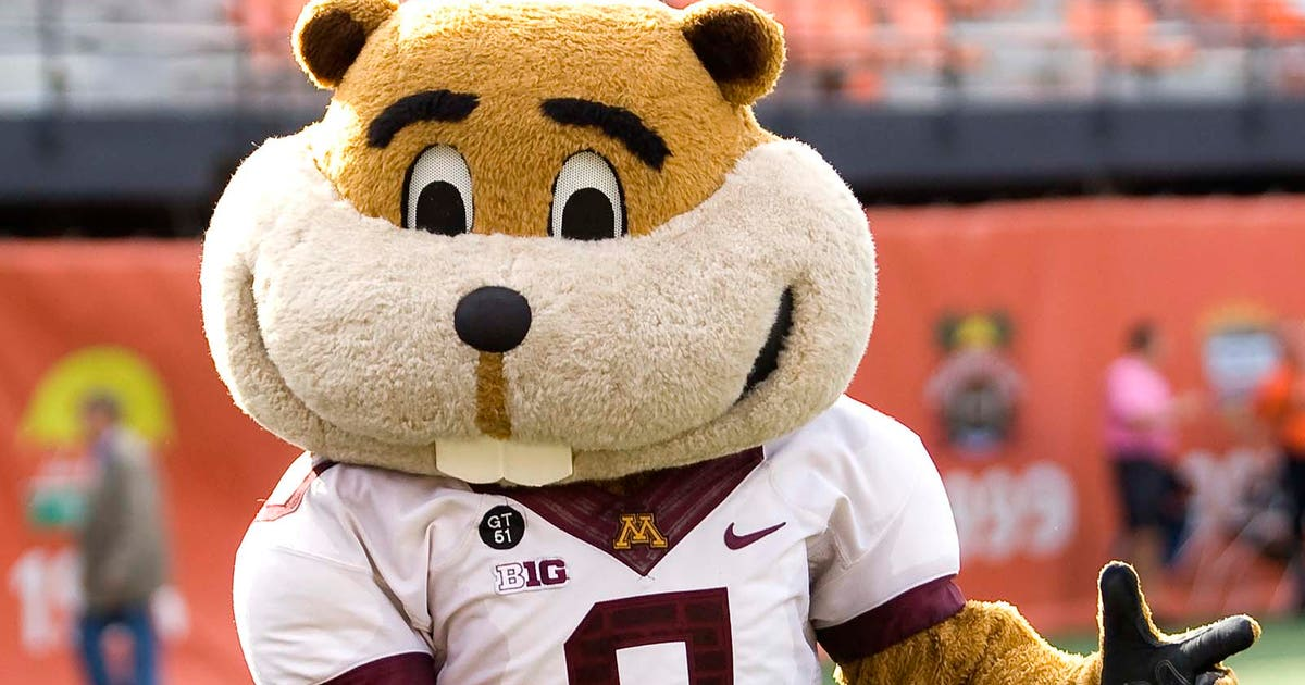 Goldy Gopher Clobbers Young Football Player In Highlight