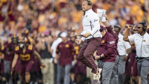 P.J. Fleck, Gophers football coach (↑ UP)