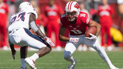 Jazz Peavy, Badgers wide receiver (↓ DOWN)