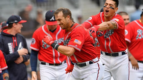 2. Braves bench production and the case for Lane Adams to stick around