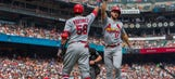 Cardinals' rookies shine in 7-3 win over Giants