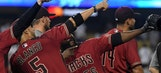 D-backs win franchise-record 13th straight to again sweep Dodgers