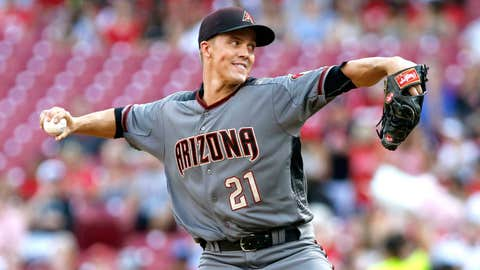 D-backs starting pitcher Zack Greinke (16-6, 3.08 ERA)