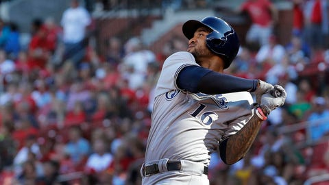 Domingo Santana, Brewers outfielder (➡ EVEN)