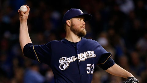 Jimmy Nelson, Brewers starting pitcher (↓ DOWN)