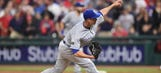 Mike Minor reacts after Royals snap Indians' winning streak