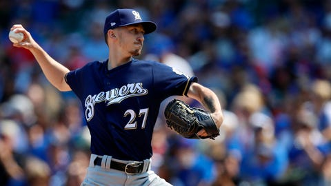Zach Davies, Brewers starting pitcher (↓ DOWN)