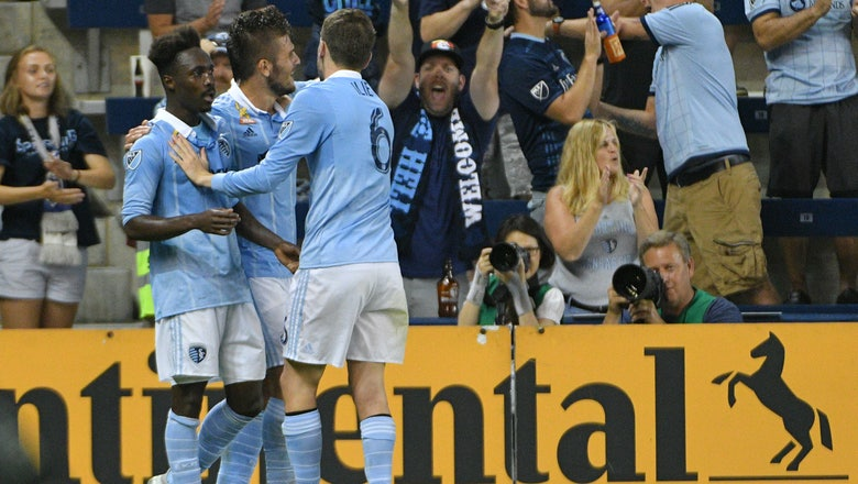 Rubio scores twice as Sporting KC defeats Revolution 3-1