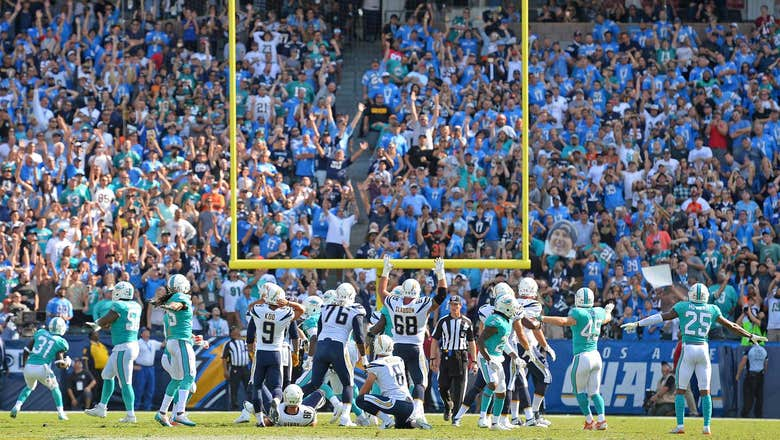 Not again! Chargers fail to make FG in final seconds in loss to Dolphins