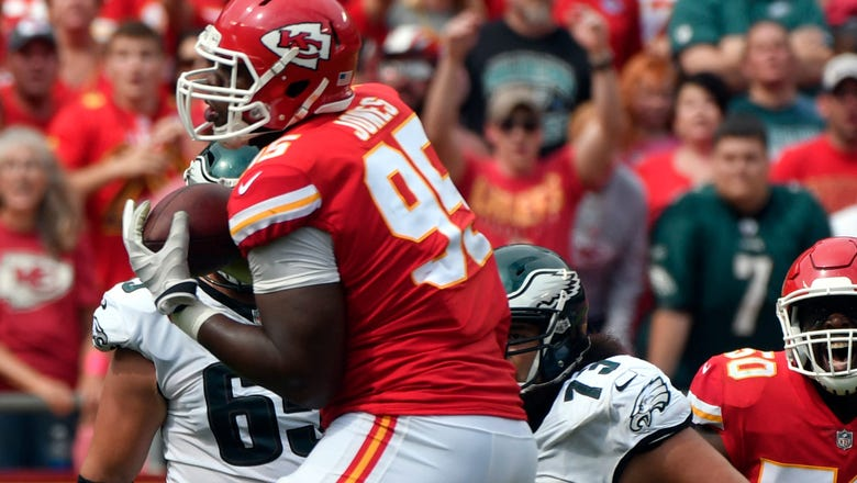 Chiefs' Jones is spitting out the words and cranking out the plays