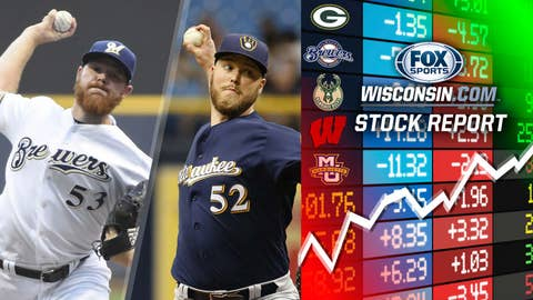 Jimmy Nelson and Brandon Woodruff, Brewers pitchers (↑ UP)