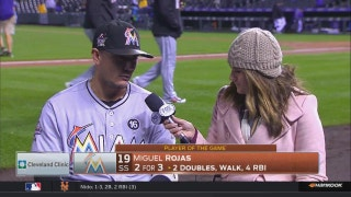 Miguel Rojas on successful night: 'This was for you, Jose'
