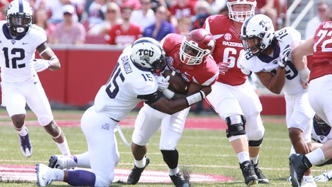 NCAA Football: Texas Christian at Arkansas