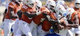 Warren and Ehlinger lead Texas 56-0 win over San Jose State