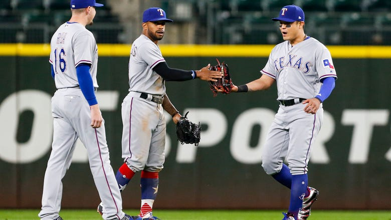 Rangers score twice in 8th inning for 3-1 win over Mariners