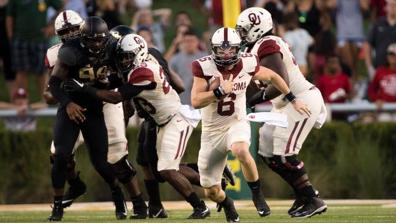 PHOTOS: #3 Oklahoma narrowly escapes Baylor upset bid in Waco 49-41
