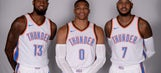 Oklahoma City's Big Three shooting for their 1st NBA title