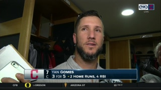Yan Gomes has some fun with reporter who asks about losing