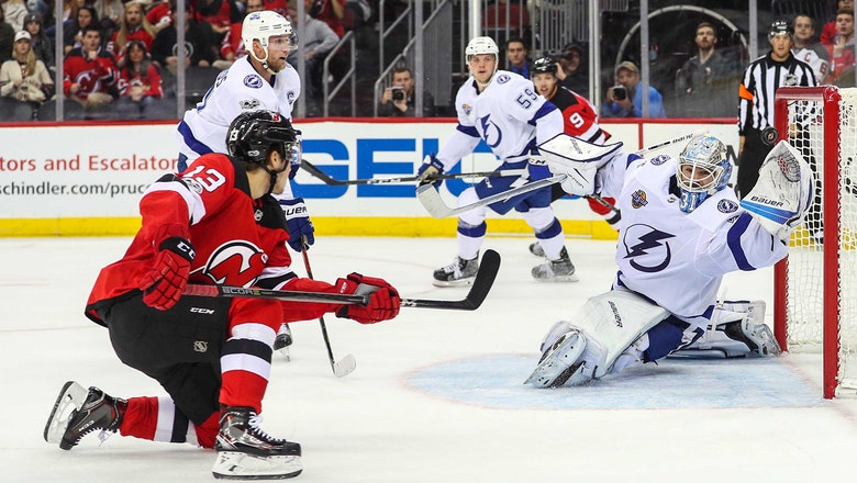 Nikita Kucherov scores again to continue torrid stretch, Lightning fall to Devils in shootout