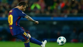 Messi scores 100th European goal as Barcelona topples Olympiacos