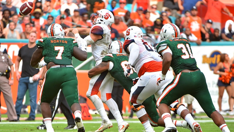 Miami withstands test from Syracuse, scores late to extend winning streak