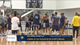 Nate McMillan mic'd up at Pacers practice