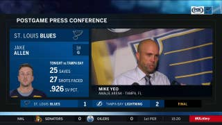 Mike Yeo after Blues' loss to Lightning: 'We made it way too easy on their goalie'