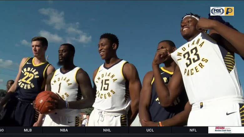 Pacers show off new Nike jerseys
