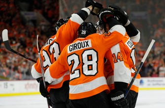 Flyers rout Capitals 8-2 to win home opener (Oct 14, 2017)