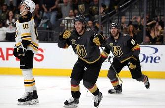 Tuch, Shipachyov shine in debuts as Vegas beats Bruins 3-1 (Oct 15, 2017)