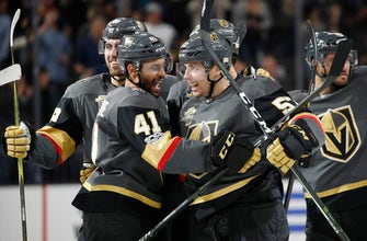 Perron leads Vegas past the Sabres in overtime, 5-4 (Oct 17, 2017)