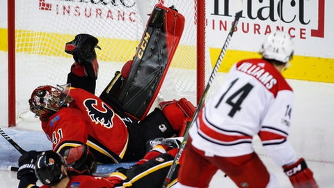Darling leads Carolina Hurricanes to 2-1 win over Calgary Flames