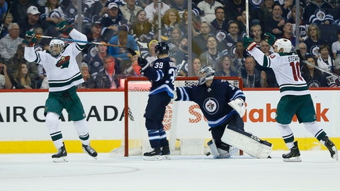 Wild lose to Jets on Blake Wheeler's 200th National Hockey League goal
