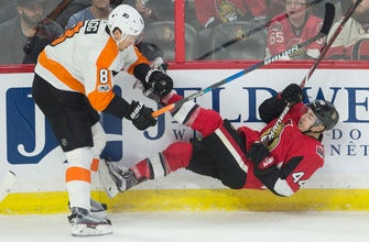 Pageau's three-point night leads Senators past Flyers, 5-4 (Oct 26, 2017)