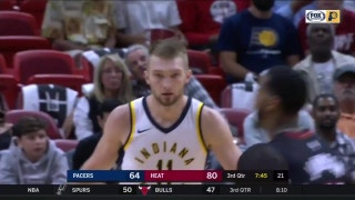 WATCH: Pacers' Sabonis shows off skills against Heat