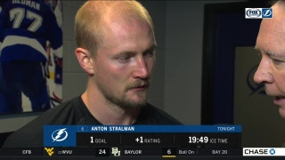 Lightning D Anton Stralman says strong 1st period set the tone