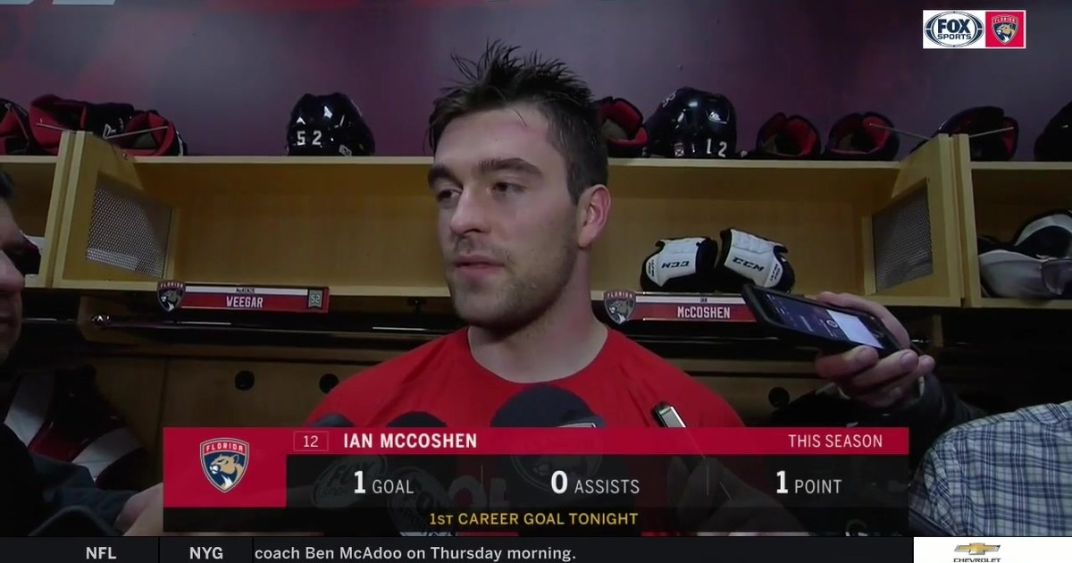 Ian McCoshen shares his thoughts on 1st career goal (VIDEO)