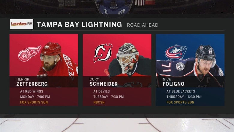 Lightning try to extend win streak to 4 as road trip begins